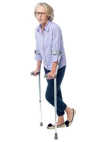 Elderly woman falling injuries