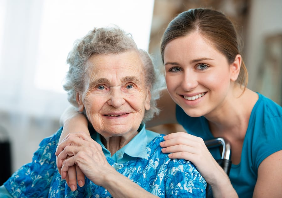 Senior patient with loved one