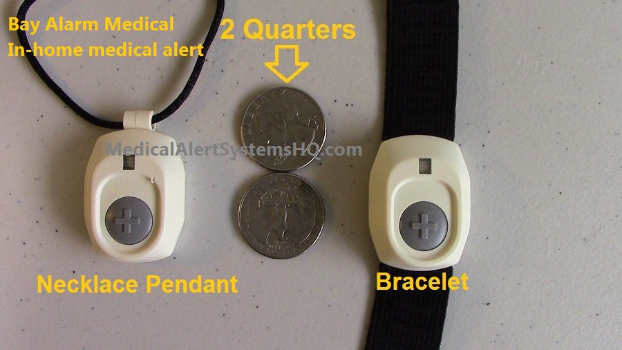 Bay Alarm Medical alert buttons and quarters comparison