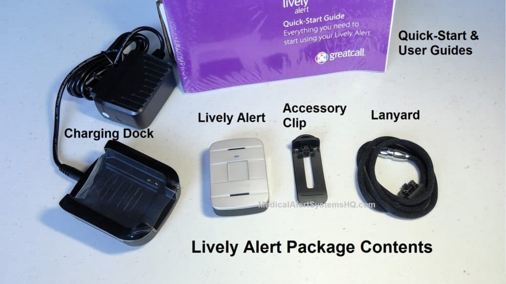 Lively Alert package contents